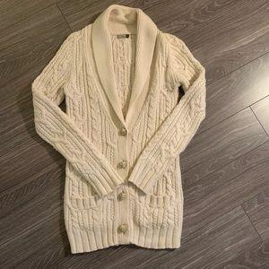 Wilfred wool/alpaca long cardigan. Cozy!
